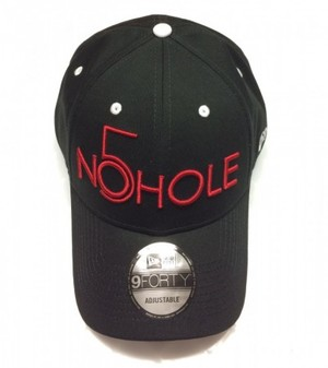 NO5HOLE NewEra 9FORTY キャップ 黒