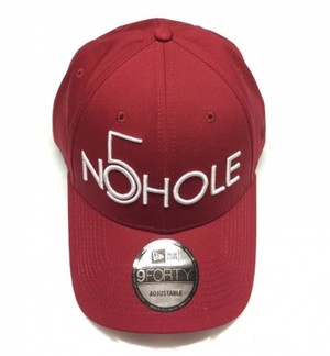 NO5HOLE NewEra 9FORTY キャップ 赤