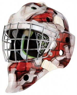 BAUER NME4 ゴーリーマスク WALL RED